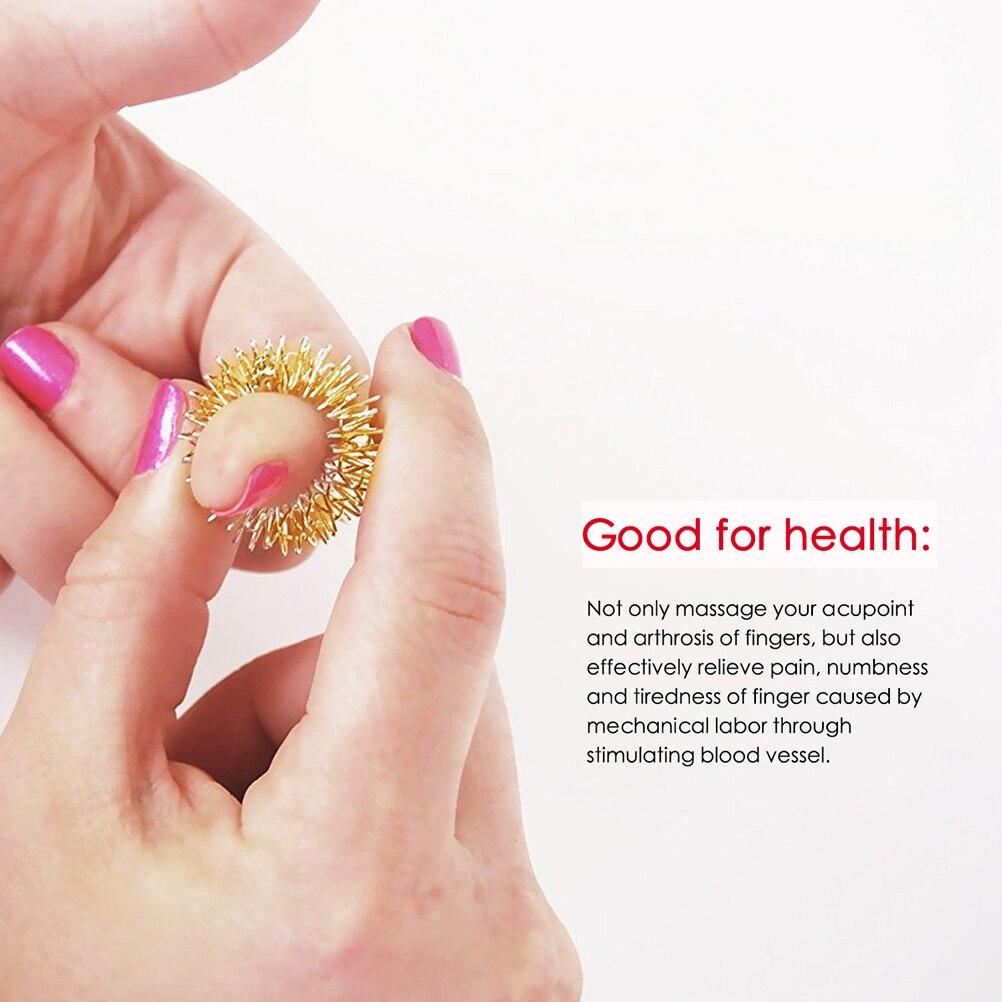Toys Finger-Rings Spiky Stress Fidget-Sensory Silent Relief 12pcs Acupressure-Rings-Set img5