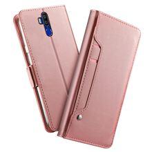 Pour Oukitel K9 étui mat luxe portefeuille en cuir synthétique polyuréthane housse de support rabattable avec miroir et fentes pour cartes pour Oukitel K9 étui antichoc