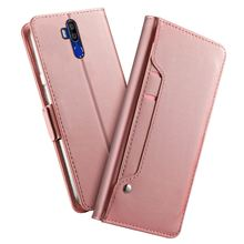 Voor Oukitel K9 Case Matte Luxe Pu Leather Wallet Flip Stand Cover Met Spiegel En Kaartsleuven Voor Oukitel K9 case Shockproof