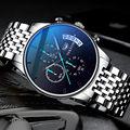 NEKTOM повседневное многофункциональный хронограф для мужчин s часы лучший бренд класса люкс Водонепроницаемый светящиеся кварцевые часы для...