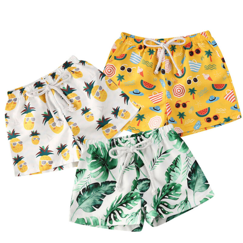 1-4Years Toddler Kids Baby Boy Polyester Pants Beach Shorts Bottoms Panties 0-4Years