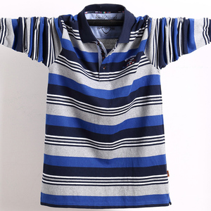 Image 5 - New Men Polo Shirts High Quality Striped Polo Shirt Fashion Casual Long Sleeves Polo Shirt Brand Clothing Autumn Winter 5XL Size