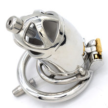 Urethral Catheter Metal Chastity Cage Bird Lock Penis Plug Male Chastity Device Cock Rings For Men Sex Toys(China)