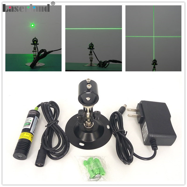 1875 532nm 10mW 20mW 30mW 50mW Green Line Laser Module Dot Point Cross Line Laser Generator Diode Locator for Wood Stone Sawmill