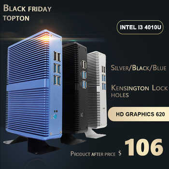 Topton NUC Intel Core i5 7200U Pentium DDR4 16GB Micro PC Fanless Computer Linux Windows 10 HD Graphics 620 4K HTPC HDMI VGA - Category 🛒 Computer & Office