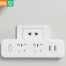 Xiaomi Mijia כוח רצועת ממיר נייד תקע נסיעות מתאם עבור בית משרד 5V 2.1A 2 שקעי 2 USB מהיר טעינה H20