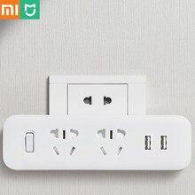 Xiaomi Mijia Power Strip Converter przenośna wtyczka adapter podróżny do domowego biura 5V 2.1A 2 gniazda 2 usb szybki ładowanie H20