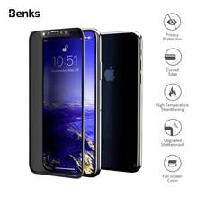 Benks מעוקל HD Anti Spy מזג זכוכית עבור iPhone XS XS MAX XR 5.8 6.1 סנטימטרים מלא פרטיות מסך מגן כיפוף מול סרט