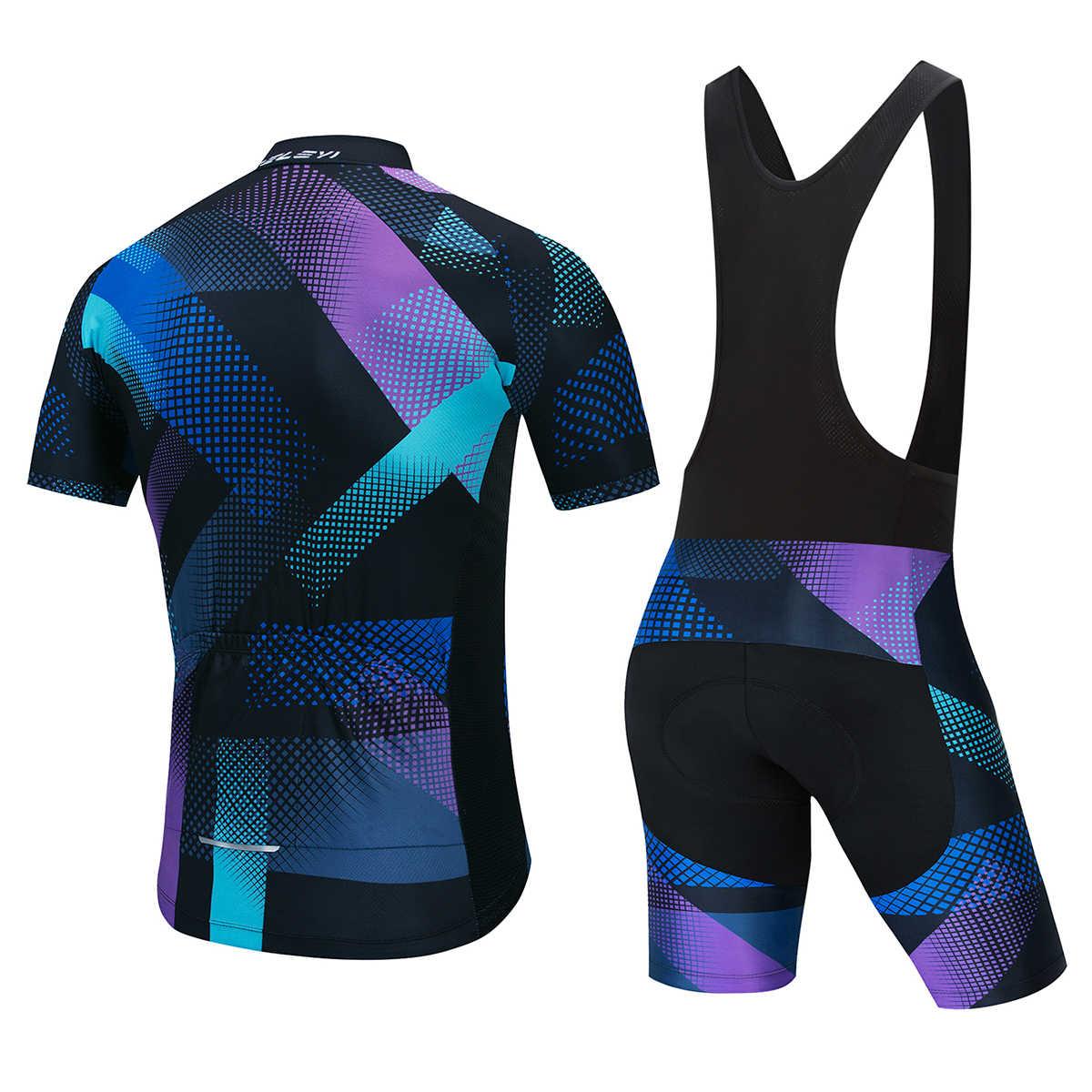 Fabrycznie dostosowane koszulka kolarska DIY koszulka z krótkim rękawem 5D podkładka żelowa spodenki na szelkach rower zespół rajdowy Biker mężczyzna kobieta kombinezon rowerowy