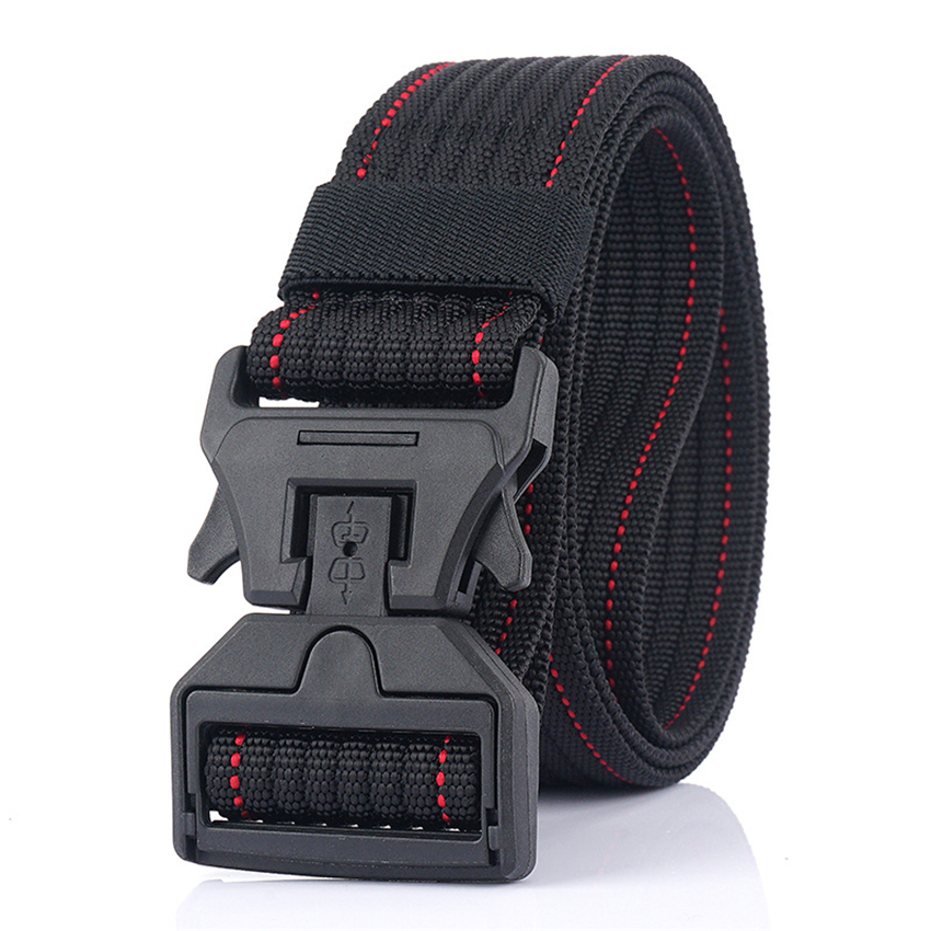 Military Tactical Nylon Belt Magnetic Buckle Practical Adjustable Outdoor Hunting Training Quick Release Belt For Jeans Pants