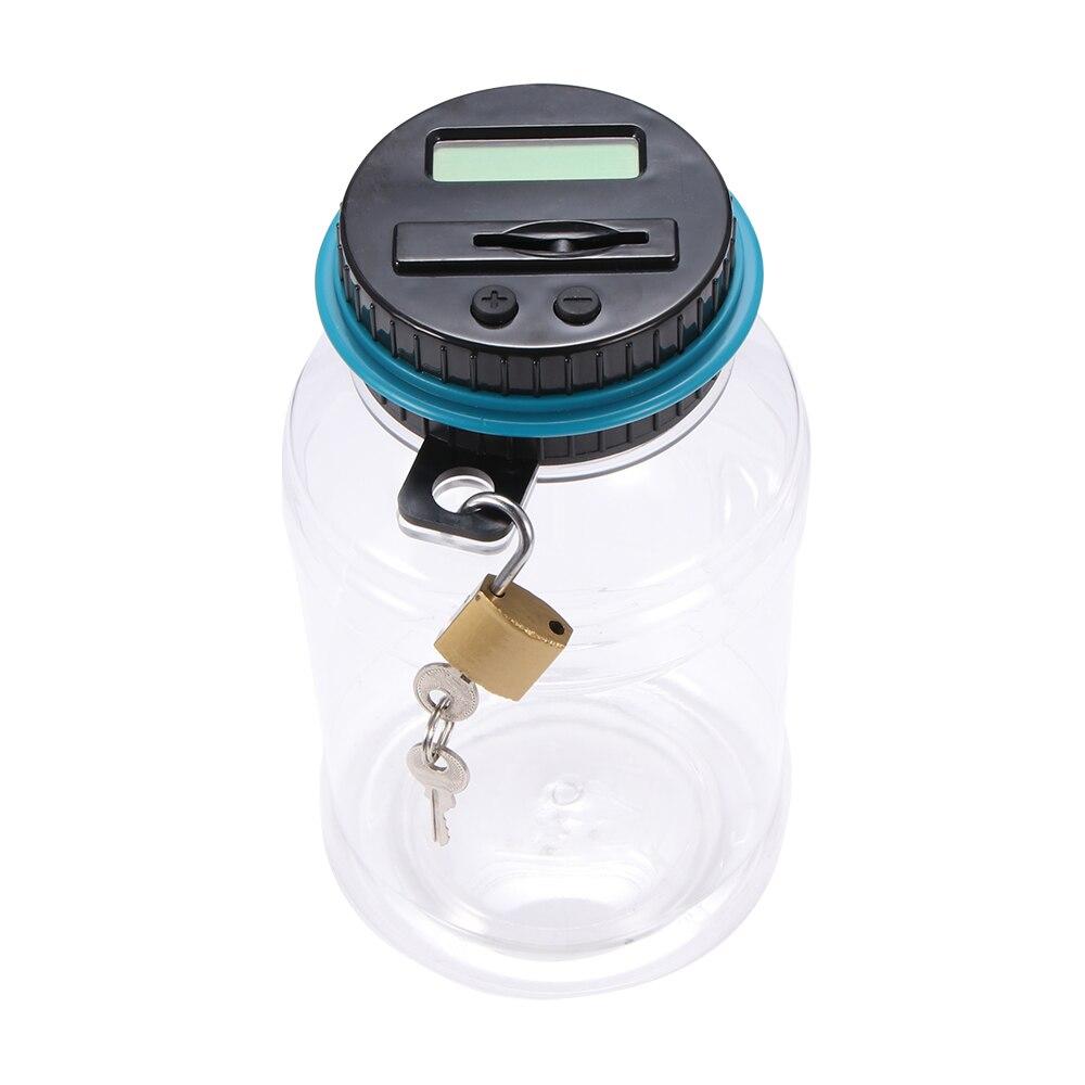 Mealheiro moeda contador eletrônico digital lcd contando moeda caixa de poupança de dinheiro jar moedas caixa de armazenamento para euro gbp dinheiro