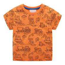 цены VIDMID Children short sleeve T-shirt tees Boys car Summer Short Tees Tops For Kids Clothing Baby boys crocodile Cotton T-Shirt
