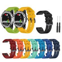 Strap For Garmin Fenix 3/3HR/5X/5X Plus Silicone Wristband Bracelet Replacement Wrist Color TPU Strap For Garmin Fenix