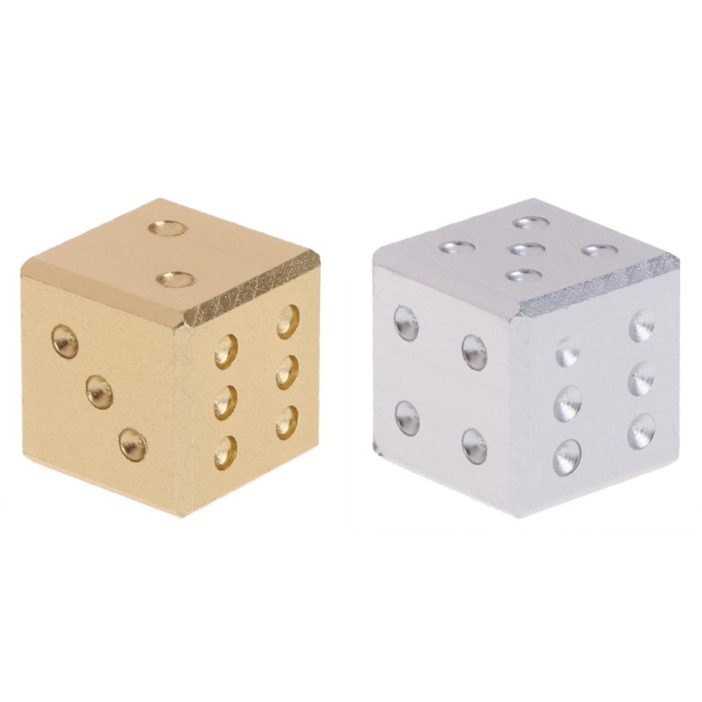 Gold Silver Aluminum Metal Dice Club Bar Drinking Playing Game Tool 16X16X16mm