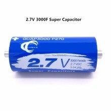 Super condensador de faradio para coche, 2,7 V, 3000F, 136x60mm de largo, 2,7 V, 3000F, fuente de alimentación automática, venta al por mayor y envío directo