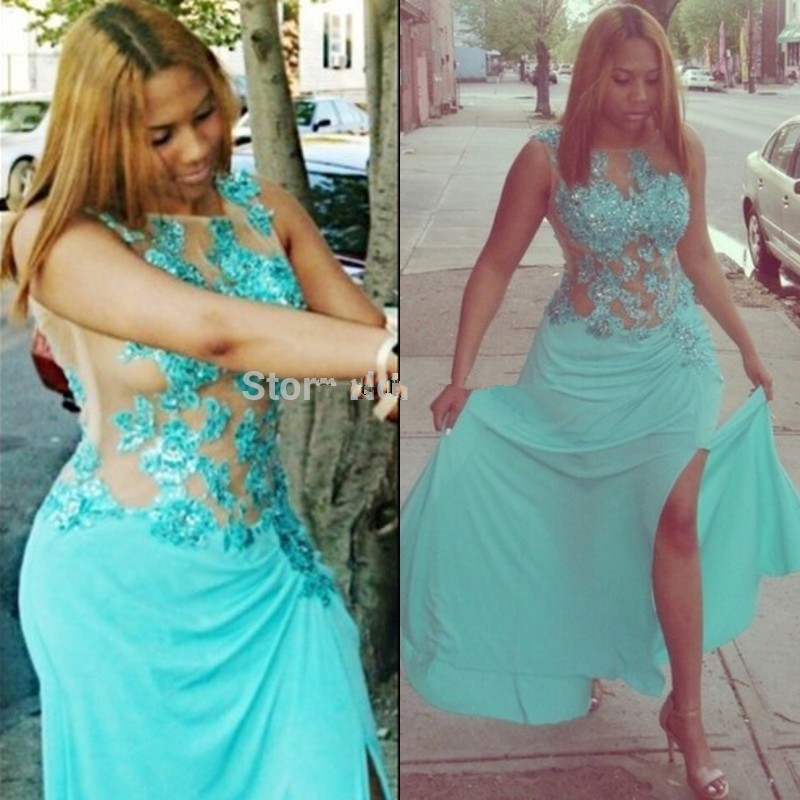 Beautiful Prom Gown For Plus Women Plus Size Party Appliques 2018 Sexy Tulle High Split Formal Free Shipping Bridesmaid Dresses