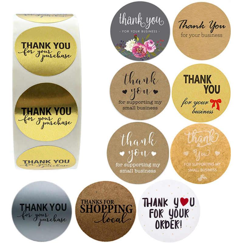 THANK YOU Sticker Labels  Purple Round Thank You Stickers  25mm Sticker Supplies  Gift Tag Stickers