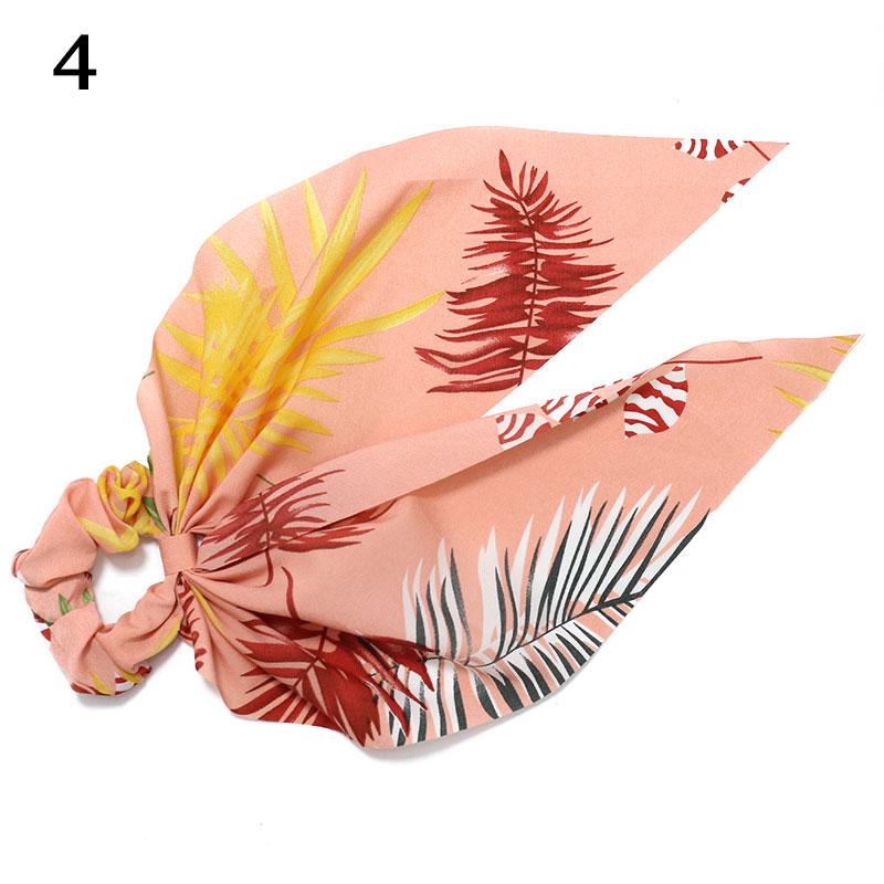 Bohème grande fleur chouchous longs banderoles arc cheveux écharpe femmes filles doux cheveux corde cravates mode cheveux accessoires chapeaux 66