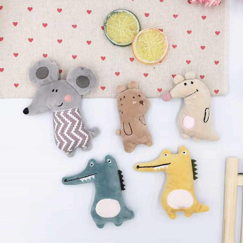 5 adet/grup sevimli karikatür hayvanlar bebek yastıklı aplike el sanatları çocuk şapkalar saç tokası aksesuar ve diy aksesuarları