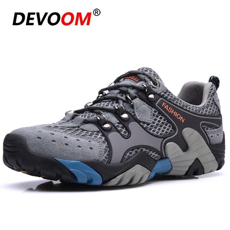 New Outdoor Hiking Shoes Men Women Non-Slip Sport Climbing Shoes Breathable Mesh Waterproof Mountain Trekking Shoes Sneakers Men