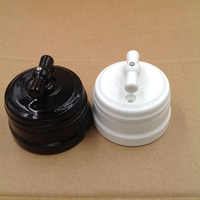 2pcs European Ceramic Knob Switch Outdoor Lighting High Frequency Ceramic Wall Lamp Switch