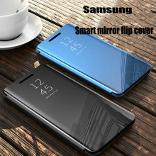 Smart Mirror Flip Case For Samsung Galaxy S20 A51 A71 A81 A91 A50 A70 Note 20 10 9 8 S10 S9 S8 Plus Pro M51 FE A20 A30 A31 Cover