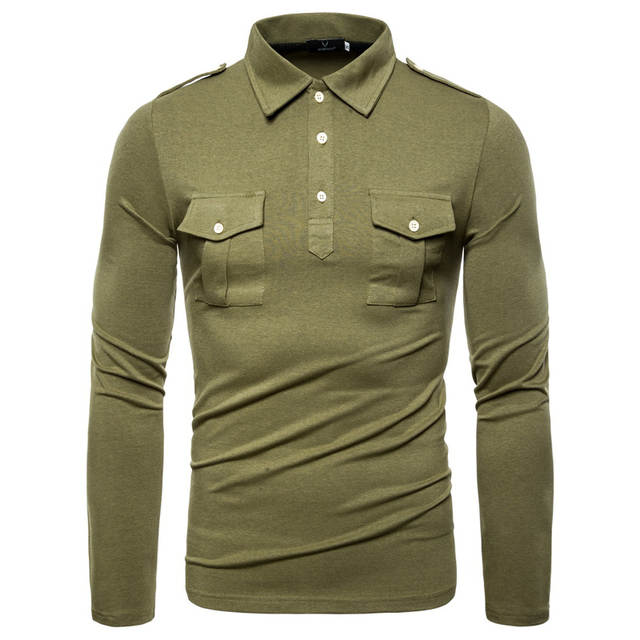 Double Pocket Long Sleeve Slim Fit