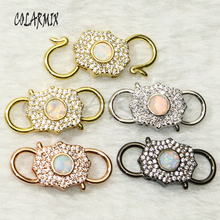 6Pcs mix color pendants lock clasp Pendant accessories Jewelry accessories for jewelry making bolt screw jewelry fashion 50722 cheap COLARMIX Copper Other Semi-precious Stone TRENDY Charms