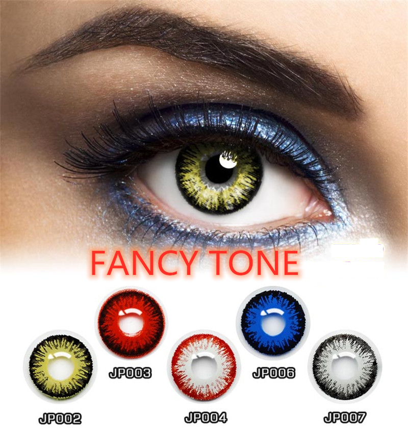 [FANCY TONE]  1 Pair Colored Halloween Contacts Crazy Contact Lens For Cosplay Cosmetic Contacts Lenses Eye Color