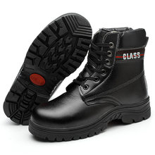 Winter Cotton Shoes Leather High Cold Steel Toe Caps Anti-smash Anti-slip Anti-slip Protective Work Shoes Tear Resistance(China)