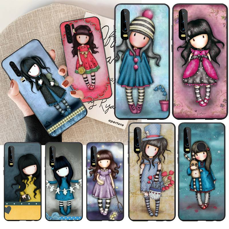 PENGHUWAN Cartoon Lovely Santoro Gorjuss Newly Arrived Black Phone Case for Huawei Honor 20 10 9 8 8x 8c 9x 7c 7a Lite view(China)