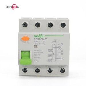 Image 2 - 4P 63 а Тип B 10KA RCCB RCD 230 В 400 в 30 мА автоматический размыкатель остаточного тока
