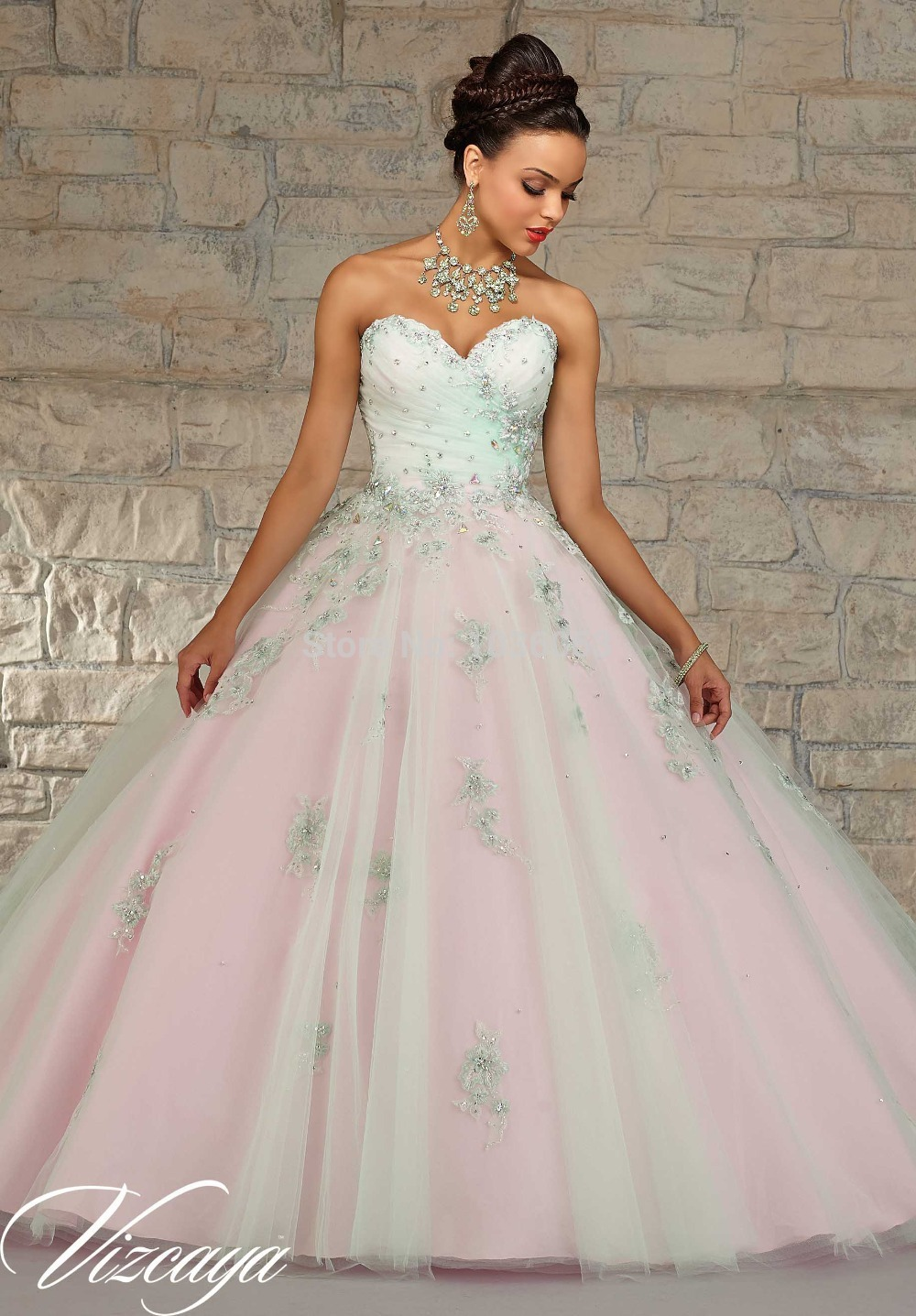 New Arrival Appliques Long Pink Sweetheart Tulle Ball Gown Prom Quinceanera Girls Robe De Soiree Mother Of The Bride Dresses