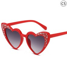 New Plastic Children Sunglasses Kids Brand Designer Love Cat