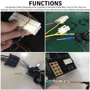Image 2 - 73 Uds Terminal de cable herramienta de eliminación de coche eléctrico pinza de presión para cables Pin Kit de automoción Terminal quitar Accesorios