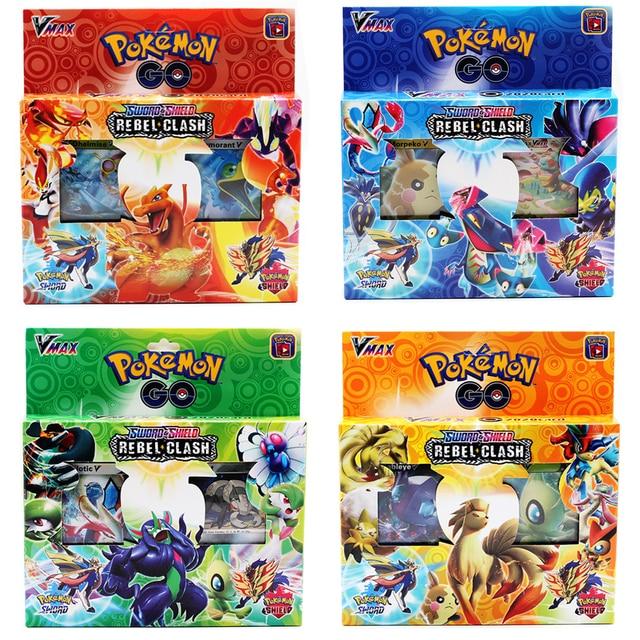 42PCS/BOX SUN&MOON TEAM UP GX MEGA Pokemon Shining Card Game Battle Carte Trading Cards Game Children Pokemons Toys for children 5