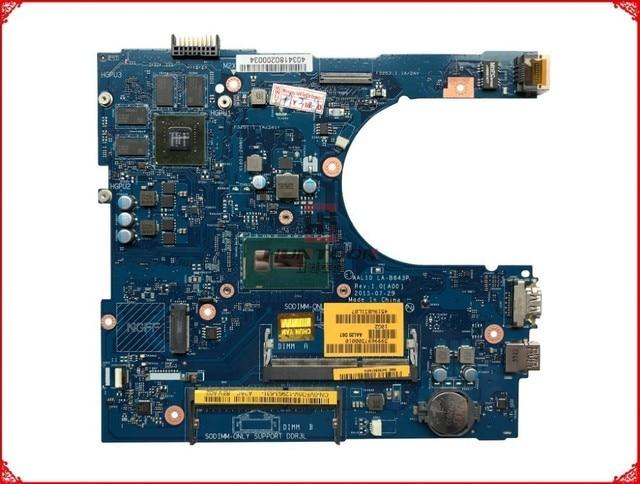 CN 0VFD5V VFD5V FOR Dell Inspiron 5458 5558 Laptop Motherboard AAL10 LA B843P REV:1.0(A00) SR23W I7 5500U HDMI port mainboard