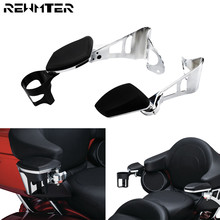 Motorcycle Chrome Passenger Armrests W/ Cup Holder For Harley Touring 2014 2018 2019 Road Glide Ultra Electra Tri Glides
