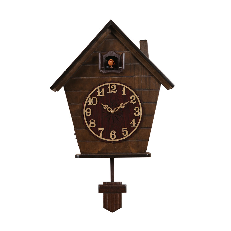 3d Vintage Cuckoo Clock Wood Large Light Sensor Wall Clock Living Room Pendulum Bird Home Bedroom Kids Room Reloj Klok Decor E5|Wall Clocks|Home & Garden - title=