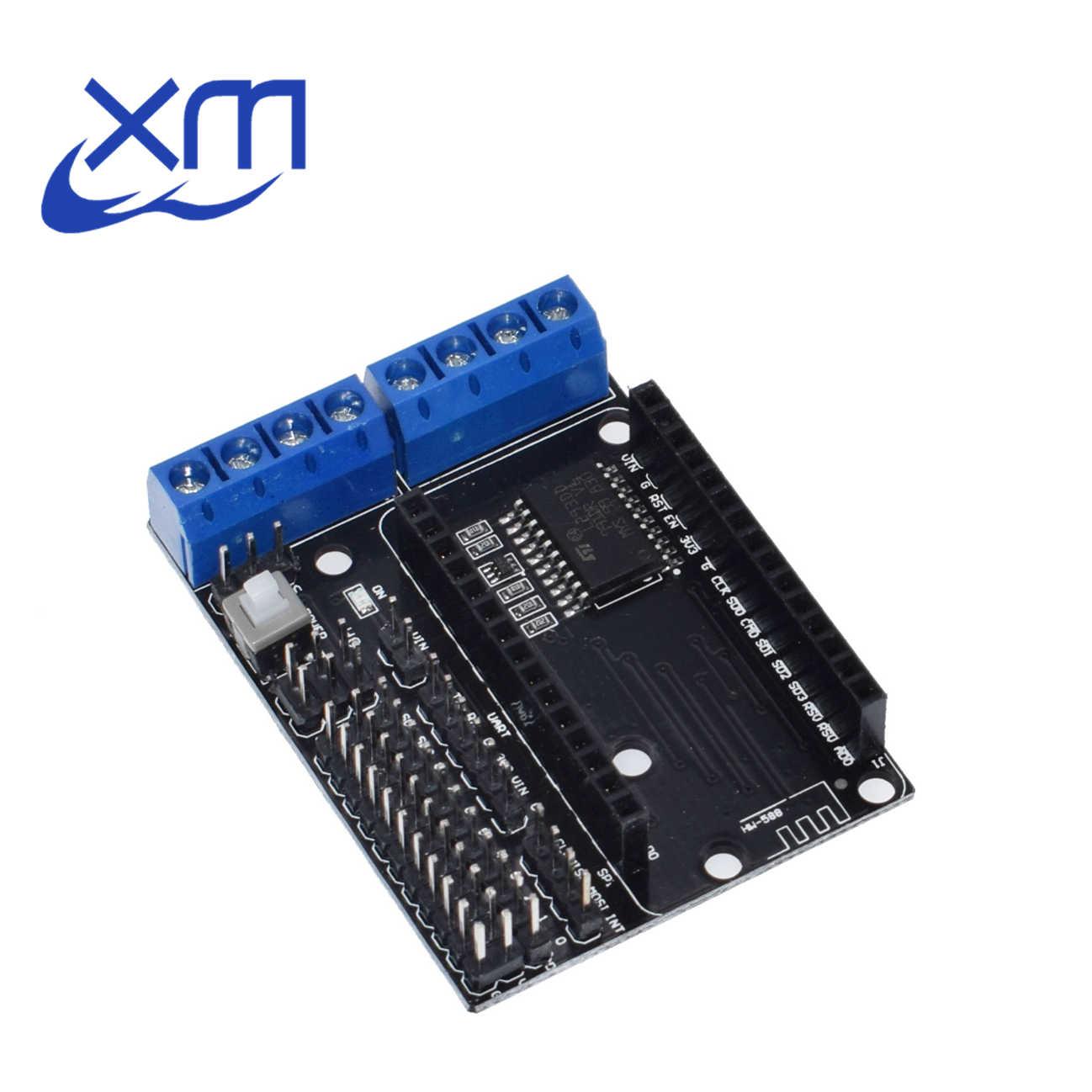 10 ชิ้น/ล็อตNodeMcuมอเตอร์โล่บอร์ดL293DสำหรับESP-12EจากESP8266 ESP 12EชุดDIY RCของเล่นWiFi RCสมาร์ทรถรีโมทคอนโทรล