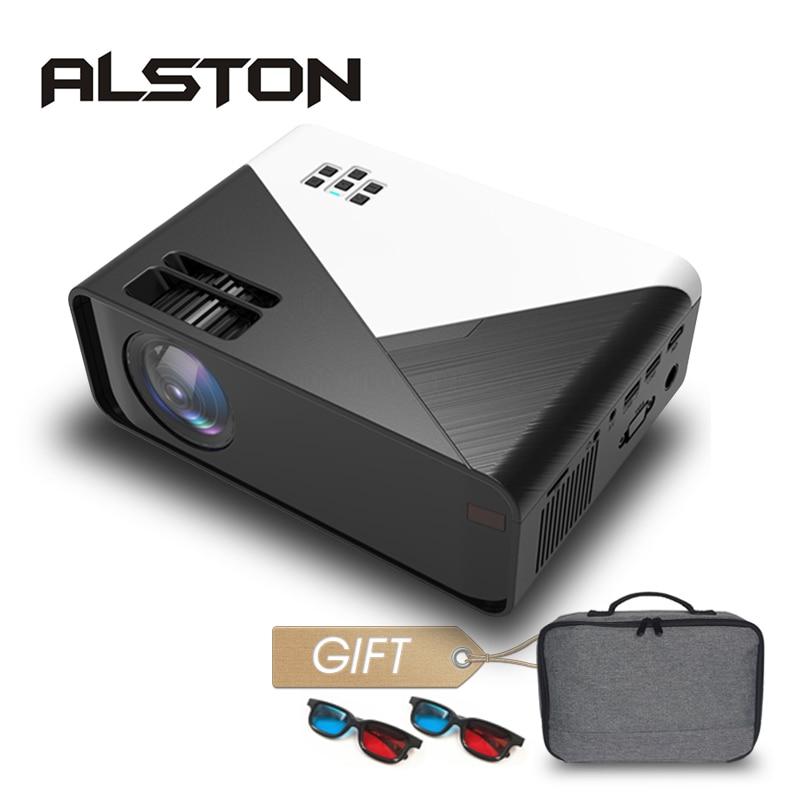 Мини-проектор ALSTON W15, 3500 лм, 720P светодиодный 1080P, Android, Wi-Fi