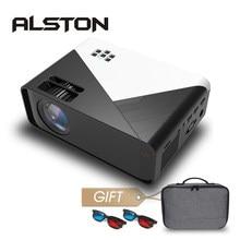 Alston w15 hd mini projetor 3500 lumens 720p suporte 1080p led android wifi projetor vídeo cinema em casa hdmi-compatível