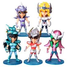 5 ชิ้น/เซ็ต 10 ซม.Seiya ตัวเลขการกระทำอัศวินของ Zodiac ตุ๊กตา Janpaness อะนิเมะการ์ตูนของเล่นเด็กคริสต์มาสของขวัญ