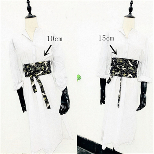 Asian Japanese Kimono Fashion Tassel Obi  Crane Belt 2