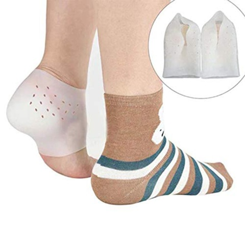 Invisible Height Increase Socks Women Men Heel Pads Silicone Gel Lift Insoles Dress In Socks Cracked Foot Skin Care Tool Massage Karachi