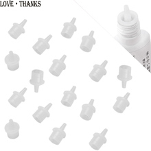 10pcs Universal Eyelash Glue Replacement Bottle Mouth Head Convenient Extended Glue Usage Anti-blocking Eyelash Extension Tool