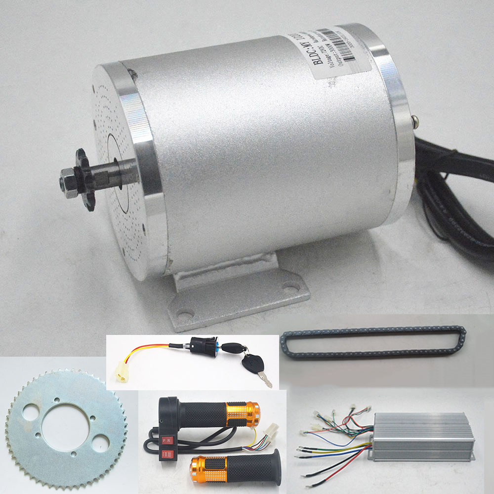 72V <font><b>3000W</b></font> Electric Scooter <font><b>Motor</b></font> With Controller throttle key lock kit For Electric Scooter E bike E-Car Engine Motorcycle Part image