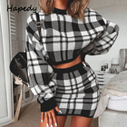 HAPEDY Plaid knitted...