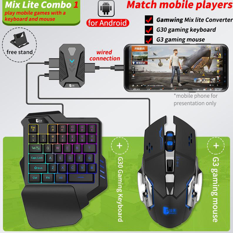 Gamepad game keyboard Bluetooth adapter game keyboard mouse conversion adapter Handle adapter keyboard mouse for Android IOS