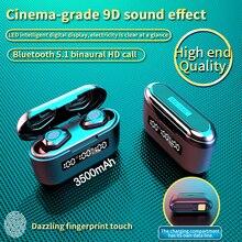 3500Mah 충전 박스 G40 TWS 블루투스 V5.1 이어폰 미니 무선 헤드폰 터치 9D Hifi 스테레오 스포츠 듀얼 마이크 헤드셋베이스